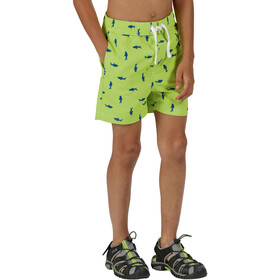 Regatta Skander II Shorts Kinder electric lime shark print